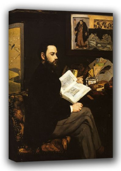 Manet, Edouard: Portrait of Emile Zola, 1868. Fine Art Canvas. Sizes: A3/A2/A1 (00682)